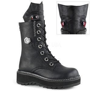 Shoes - Platform Lace-Up Mid-Calf Eyeball Monster Boots